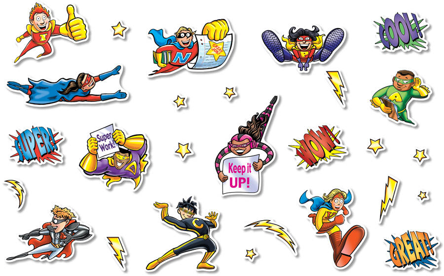 NS 3208 SUPERHEROES CUTOUTS