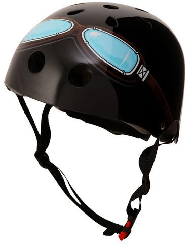 Kiddimoto Helmet, Black Goggle, M