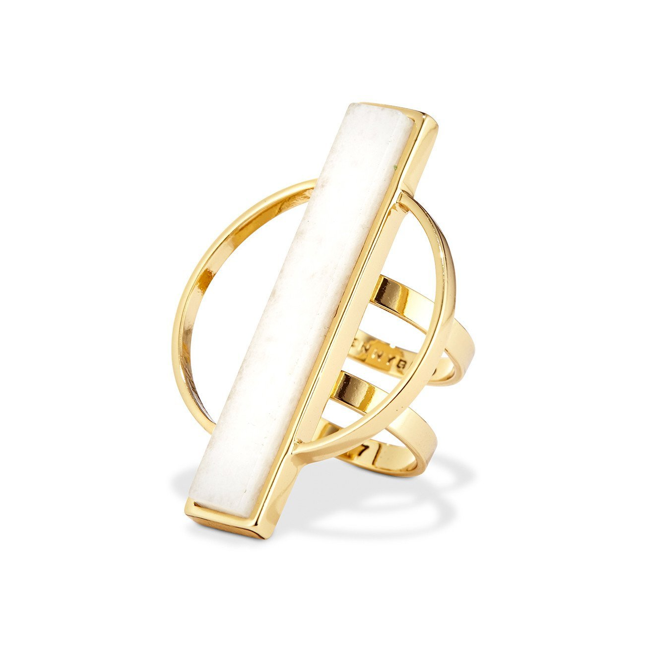 JENNYBIRD - POLLUX RING IN GOLD/WHITE