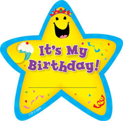 CTP 1075 IT'S MY BIRTHDAY! STAR BADGES