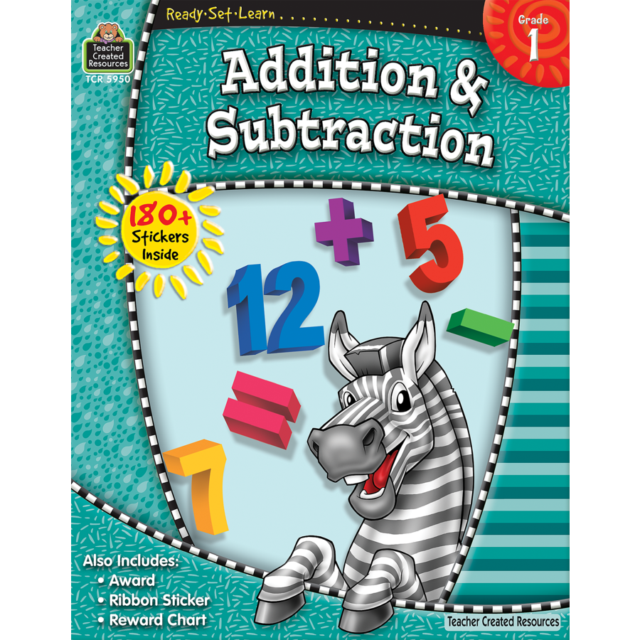 TCR 5950 READY-SET-LEARN ADDITION SUBTRACTION GRADE 1