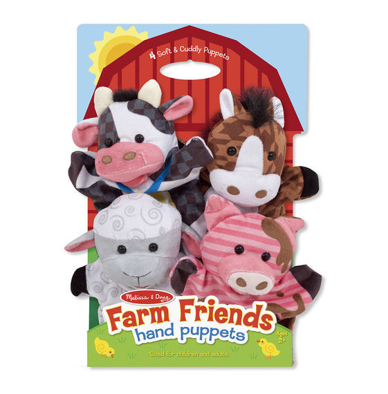 MD 9080 FARM FRIENDS HAND PUPPETS