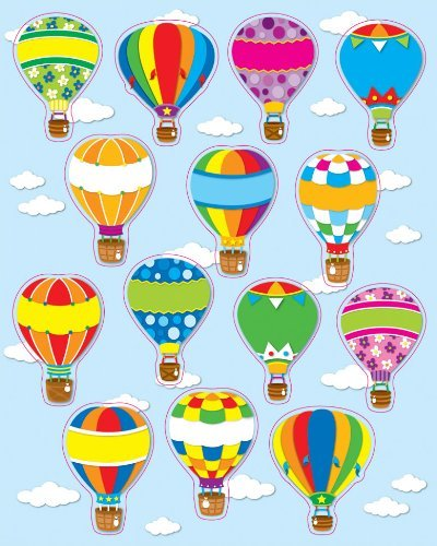CD 168064 HOT AIR BALLOONS SHAPE STICKERS