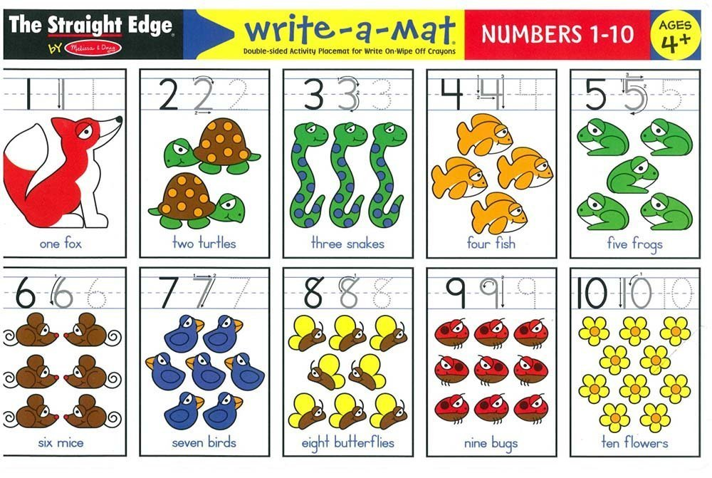 MD 5004 NUMBERS 1-10 WRITE A MAT