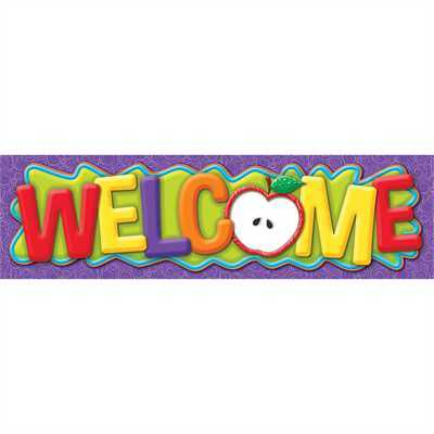 EU 849007 4' BANNER COLOR MY WORLD WELCOME