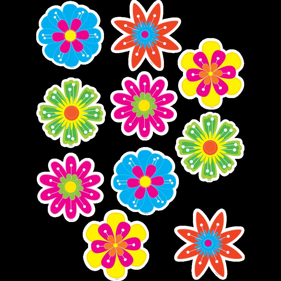 TCR 5394 FUN FLOWERS CUTOUTS