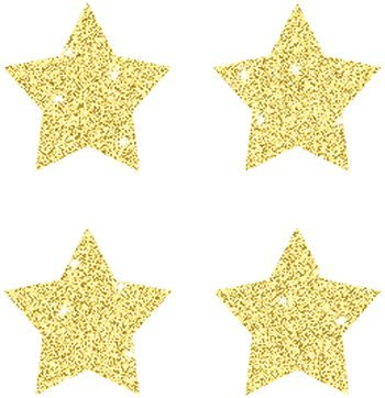 CD 2145 GOLD STAR STICKERS