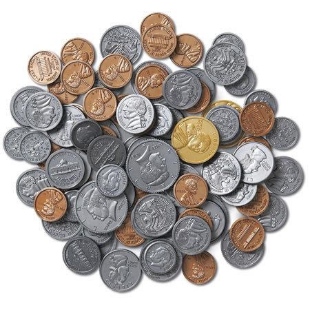 LER 0101 B PLAY MONEY COIN SET