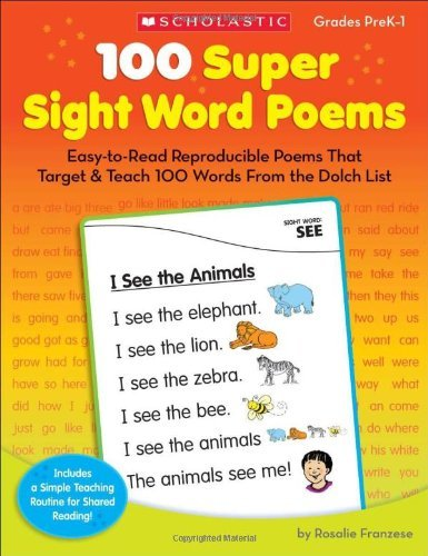 SC 0545238307 100 SUPER SIGHT WORD POEMS