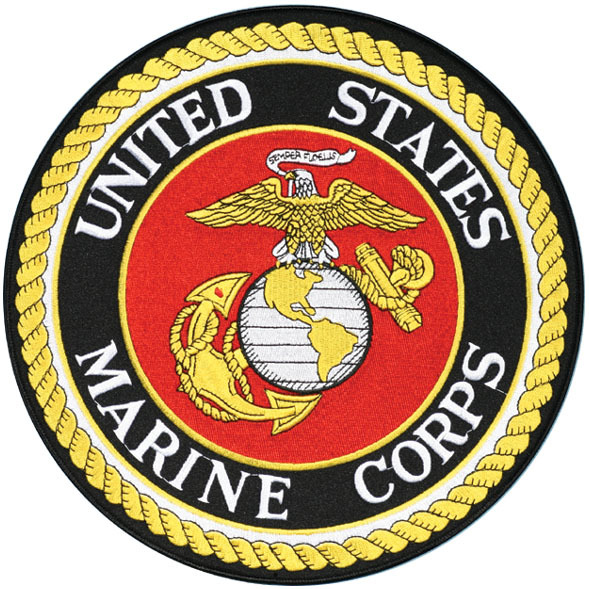 "Marine Corps Logo Patch - 12"" #9046 