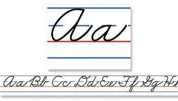 CD 4402 TRADITIONAL CURSIVE ALPHABET DESK TAPE