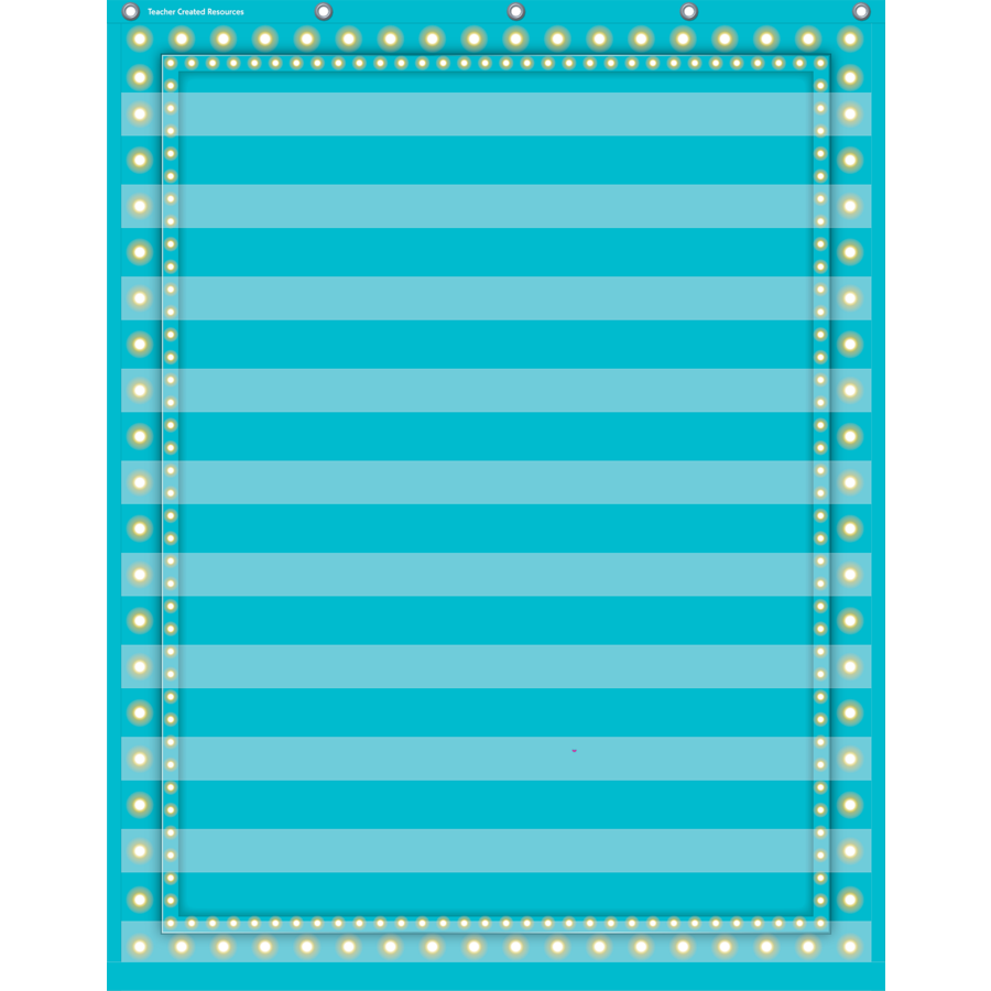 TCR 20778 LIGHT BLUE MARQUEE POCKET CHART