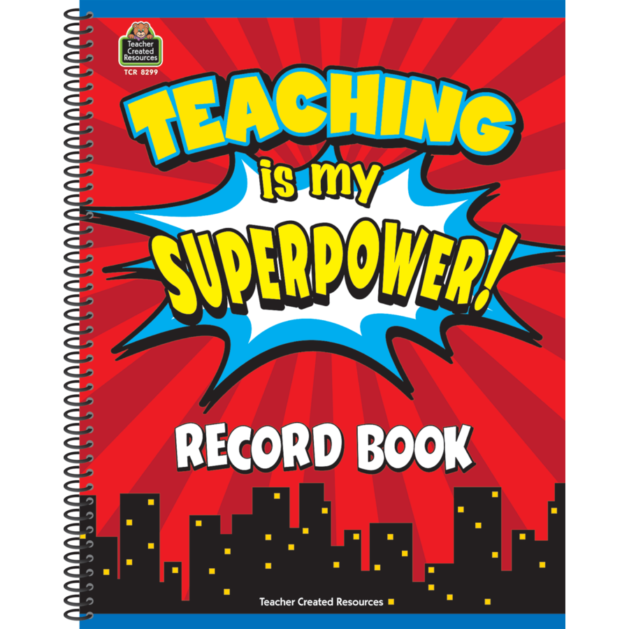 TCR 8299 TEACHING IS MY SUPER POWER RECORD BOOK