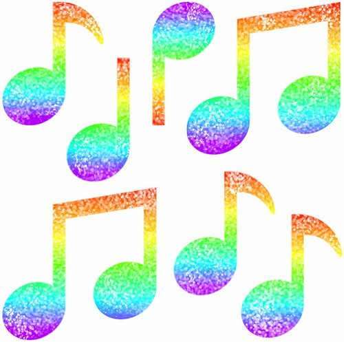 CD 2913 MUSIC NOTES DAZZLE STICKERS