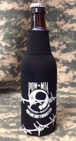 Pow Mia Barbed Wire Design Bottle Koozie Drinkware Military Pride Online