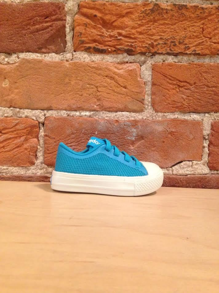 PEOPLE FOOTWEAR - THE PHILLIPS CHILD IN TROPICANA BLUE/PICKET WHITE