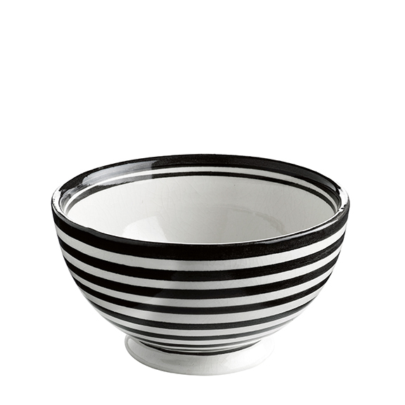 BOWL CERAMIC BLACK STRIPE