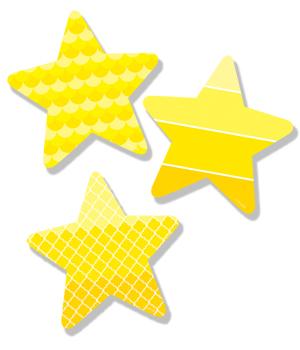 CTP 6495 PAINT STARS CUTOUTS