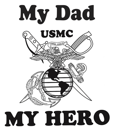 My Dad My Hero Marine Corps T Shirt Apparel Military Pride Online