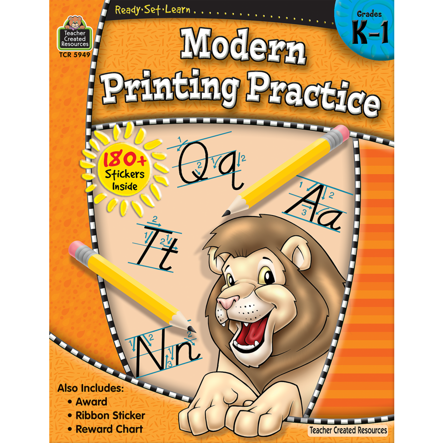TCR 5949 READY-SET-LEARN MODERN PRINTING PRACTICE K-1