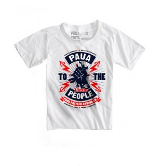 Kids Paua to the Little People Tee White