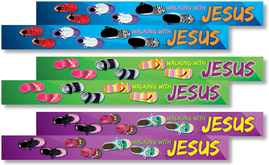 NS 2558 WALKING WITH JESUS ARM CHARMS