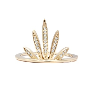 MELANIE AULD - PAVE FAN RING IN GOLD