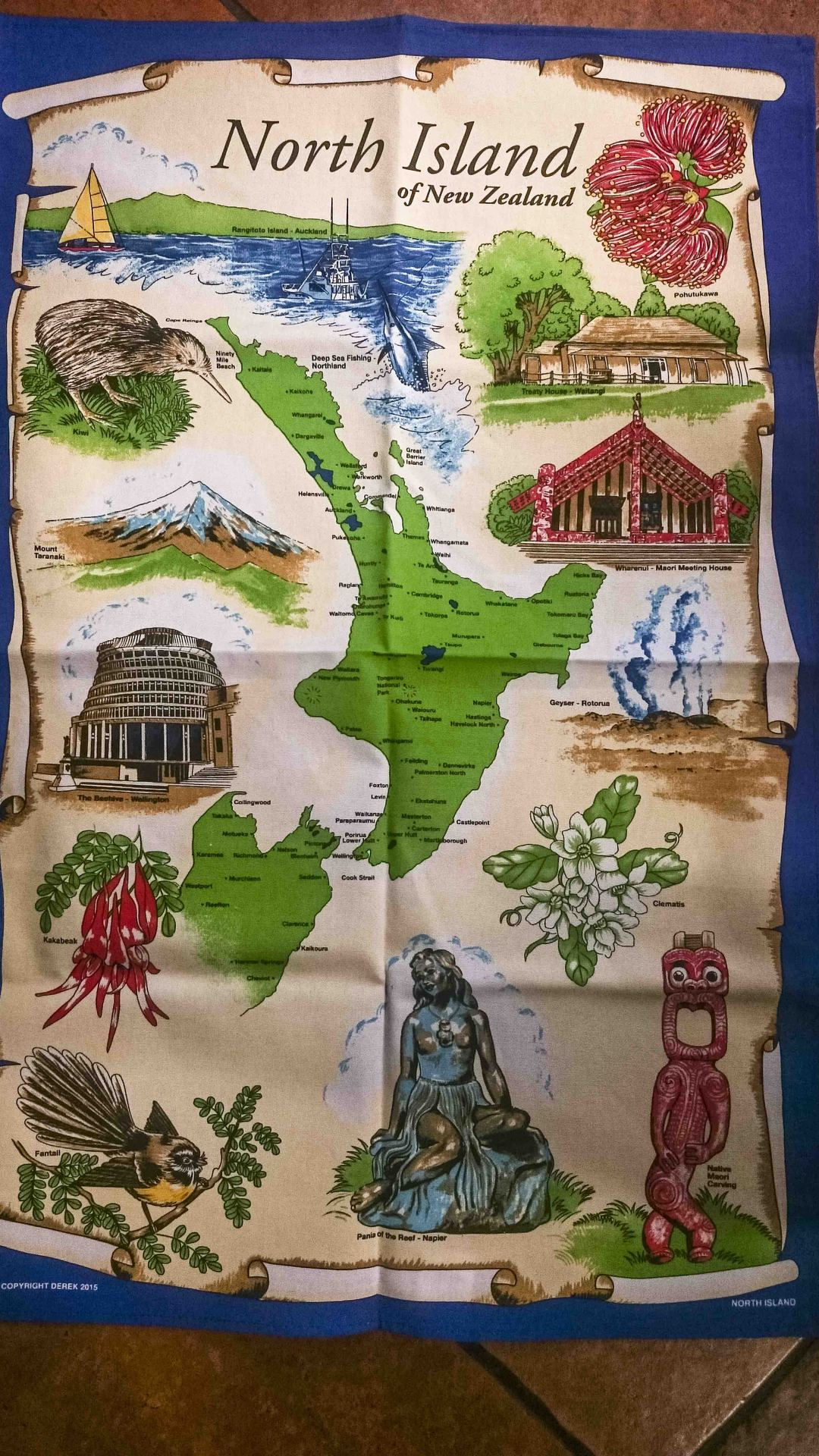 North Island Teatowel