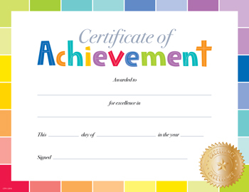 CTP 0673 PAINTED PALETTE CERTIFICATE OF ACHIEVEMENT