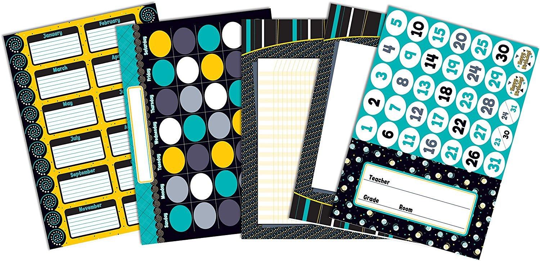 X CD 110246 BLACK/WHITE/BOLD CLASSROOM COORDINATES BBS