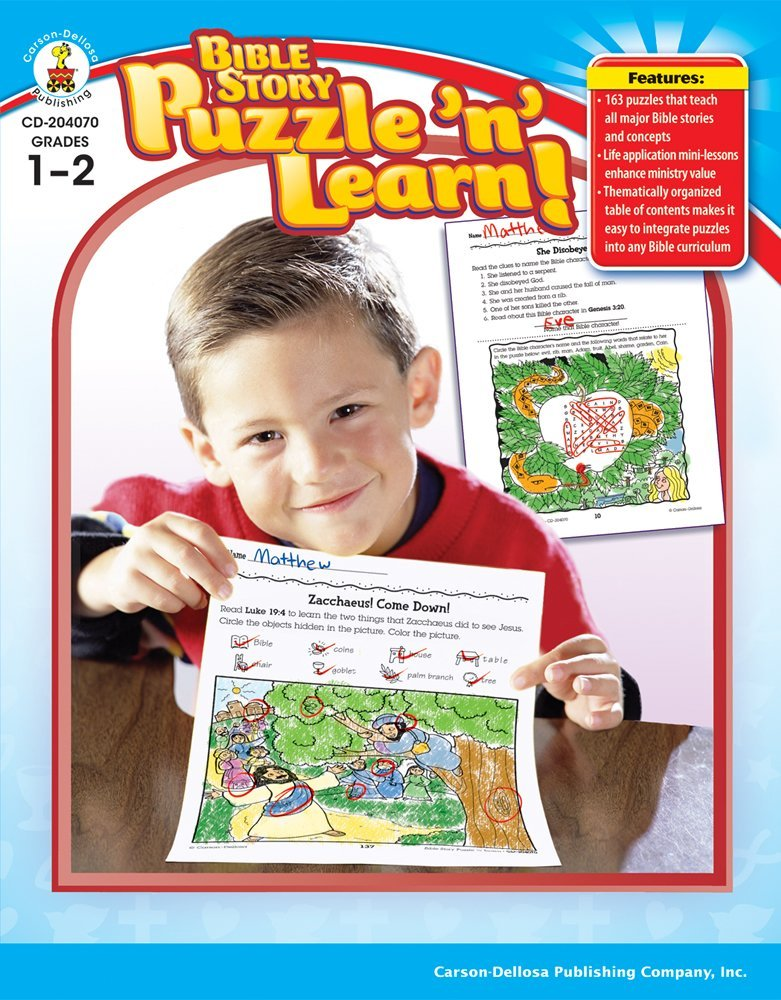 CD 204070 BIBLE STORY PUZZLE AND LEARN 1-2 BOOK