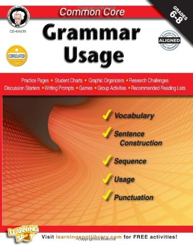 CD 404219 GRAMMAR USAGE G6-8