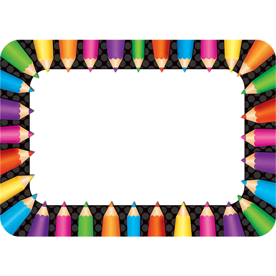 TCR 5513 COLORED PENCILS NAMETAG