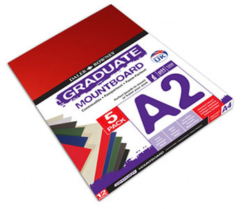 A2 Graduate Mountboard 5 pack Assorted