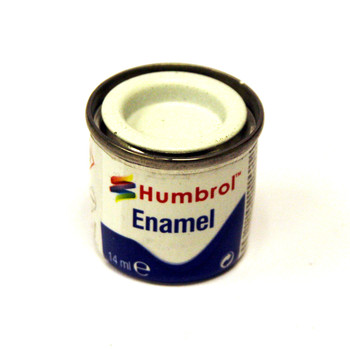 Humbrol Enamel Matt White 14ml