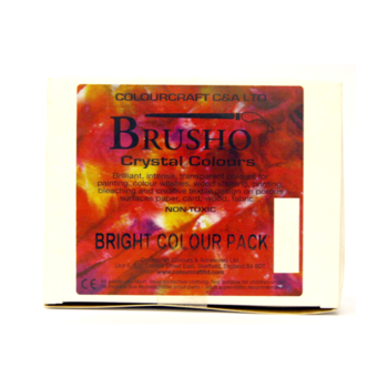 Brusho Assortment 5 conts.+ thickener Brights Pack