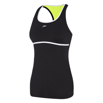 Womens Cross Trainer Power Tank Black/White/Safety Yellow