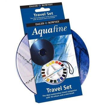 Daler Rowney Aquafine 18 half pan travel tin