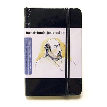 Hand Book Journal Sketchbook 5.5 x 3.5 Portrait Black