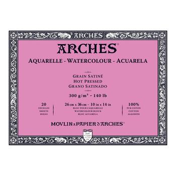 Arches Aquarelle Block Smooth 300gsm 10x14