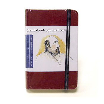 Hand Book Journal Sketchbook 5.5 x 3.5 Portrait Vermillion Red