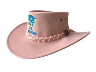 Pink Childrens PU Suede Hat Image