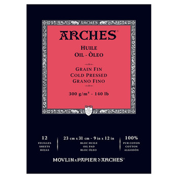 Arches Oil Painting Paper Pad 23 x 31cms