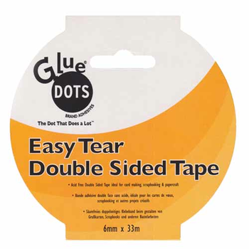 Double Sided Acid Free Tape - 6mm X 33M - Easy Tear