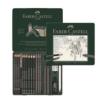 Faber Castell Pitt Monochrome Graphite Set 19