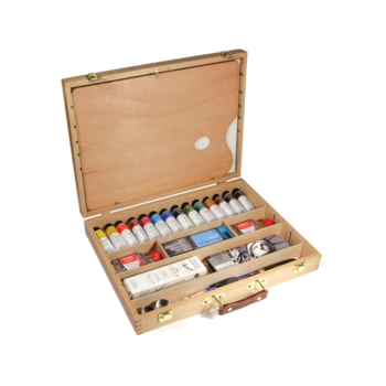Daler Rowney Deluxe wooden Oil paint gift box