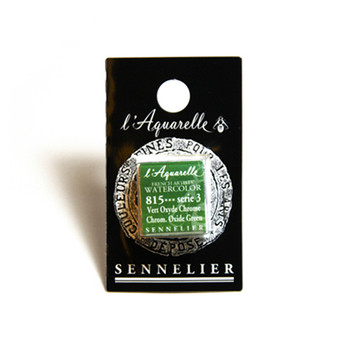 Sennelier Watercolour 1/2 Pan S3 - Chromium Oxide Green