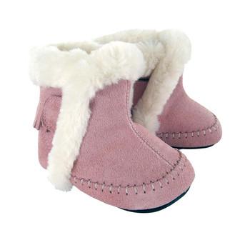 Mocs Boot Pink Suede-Alexus