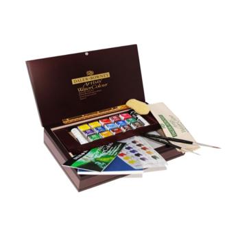 Artists' Watercolour Wooden Box Half Pan Small