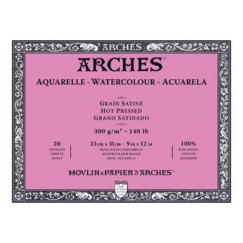 Arches Aquarelle Block Smooth 300gsm 9x12